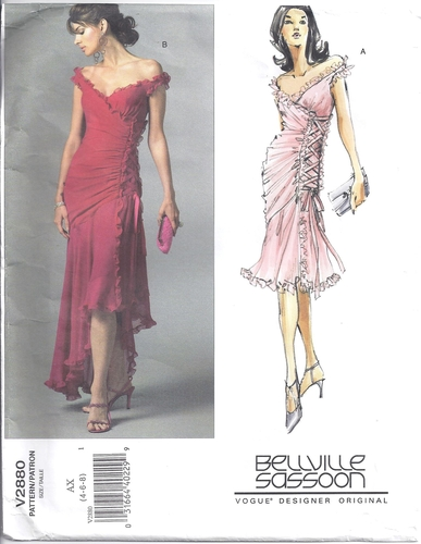 Vogue Pattern 2880 Designer Evening Dress Size 468  Sewing ...