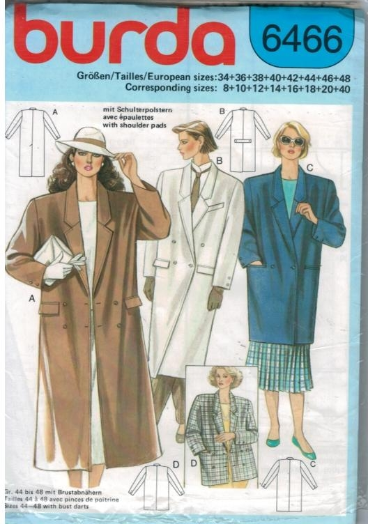 Trench Coat Pattern Doll Pattern 6466 Trench Coat