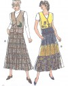 Tiered prarie skirt with applique vest
