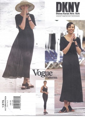 Vogue Donna Karan Sewing Pattern 2813 High Waist Pants Skirt Long