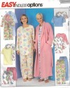 Easy to sew, many options of sleepwear separate and wrap front robe!