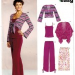 Easy Knit Pants, Tank Top, Jacket and cape for misses