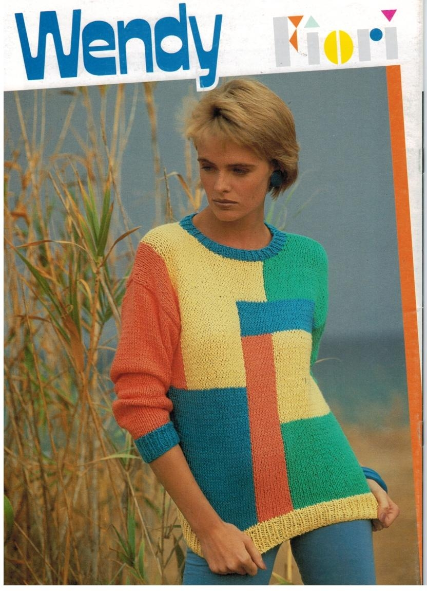 Wendy Fiori Yarn Knitting Pattern Book for Misses Summer ...