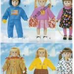 """Fall and Winter clothes and costumes for 18"""" dolls"""