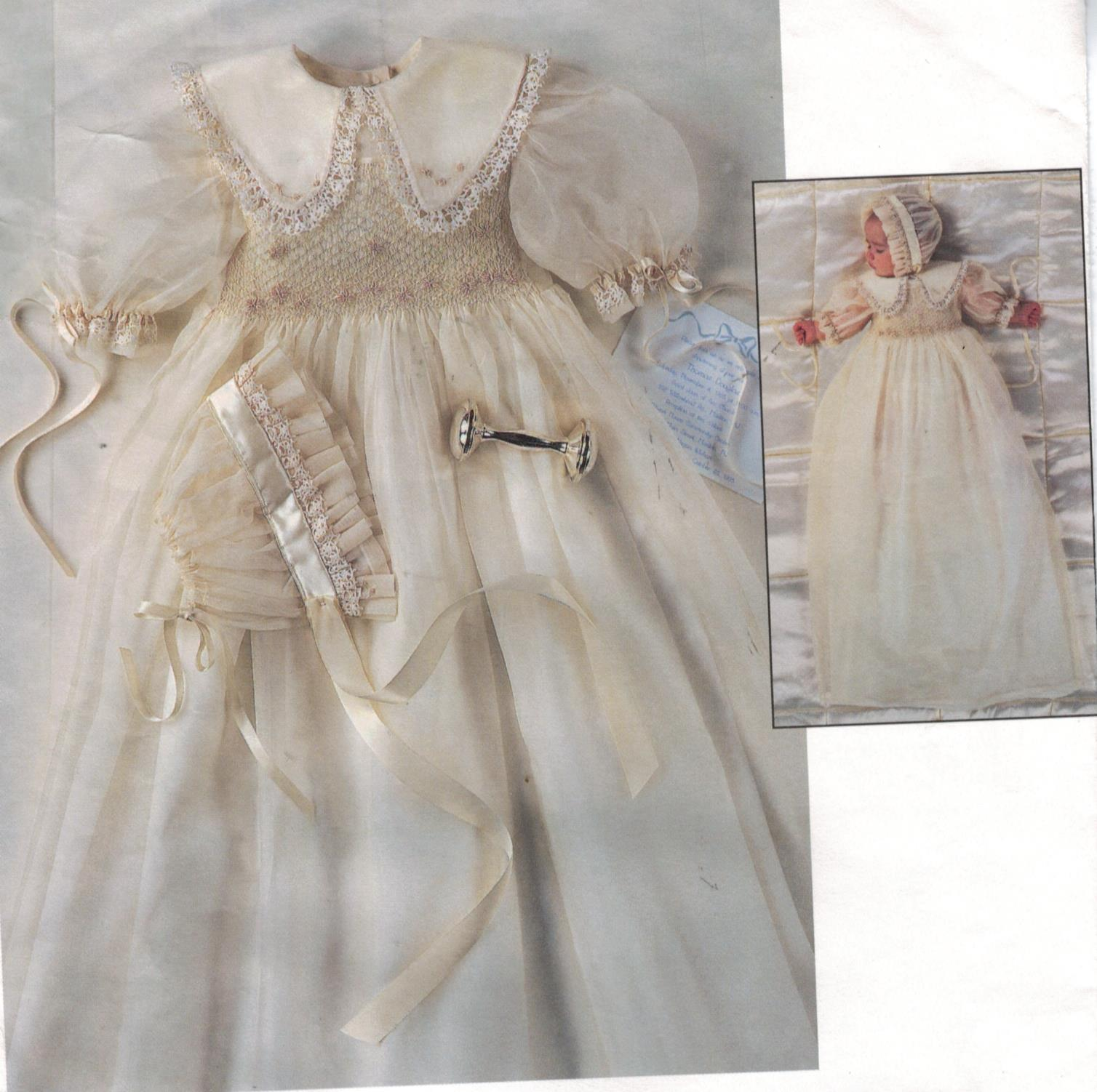 Vogue Pattern 1755 Smocked Heirloom Collection Baptism