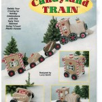Fun Christmas train made with plastic canvas!