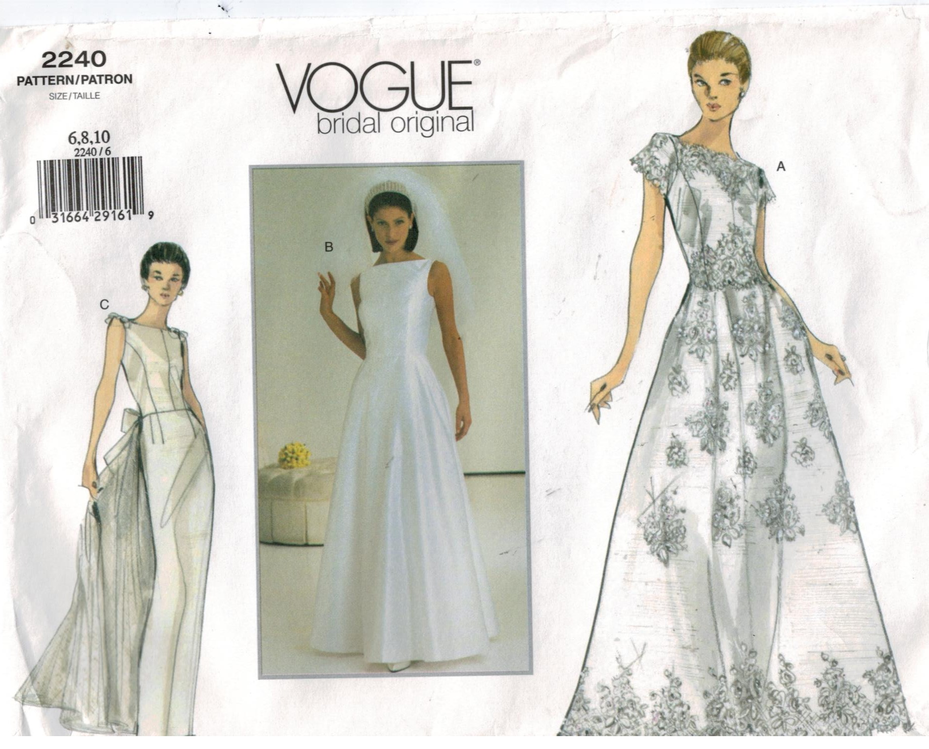 New vogue bridal dress patterns vintage pattern for Wedding dress patterns vintage