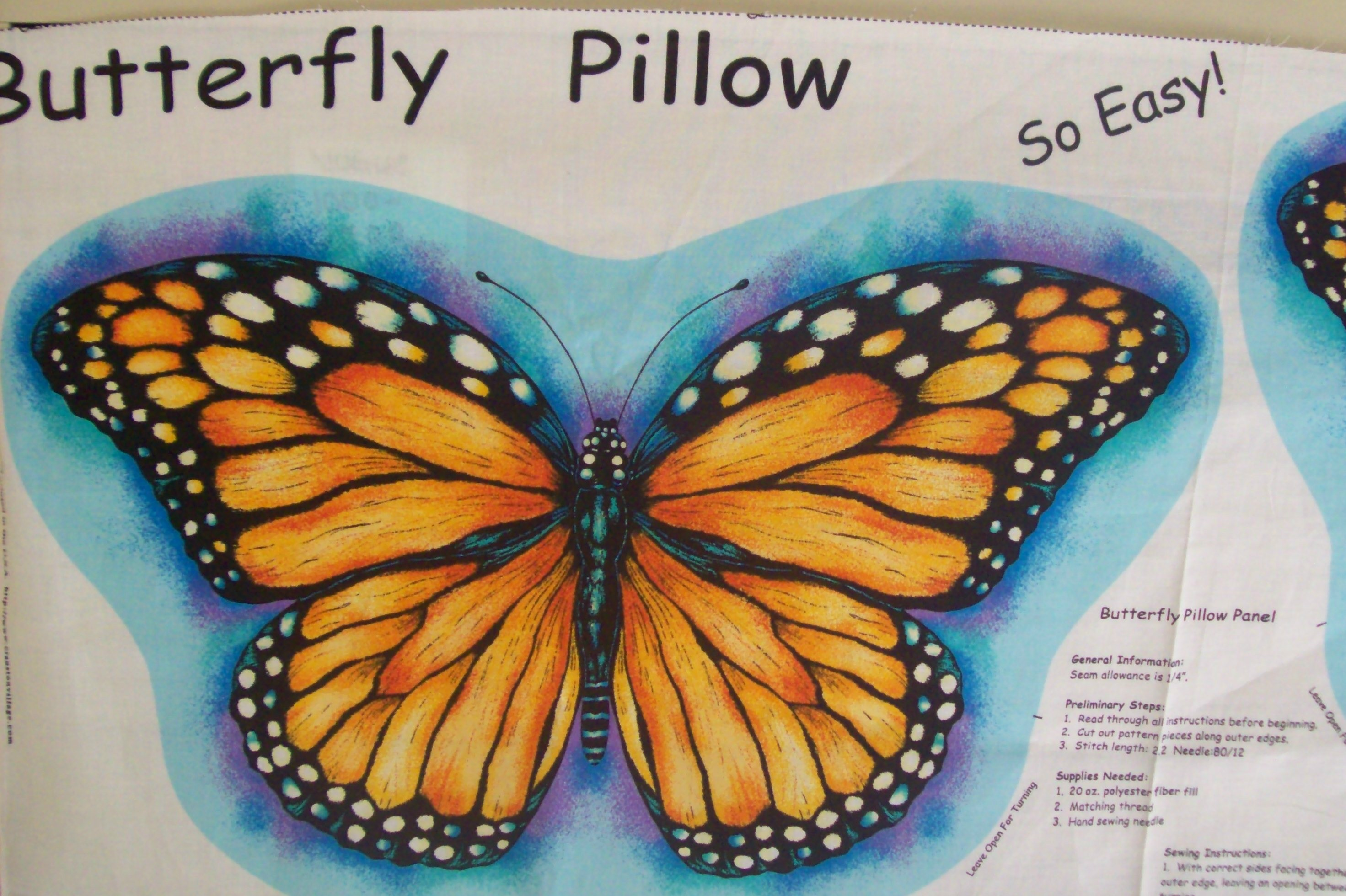 Vip Cranston Printworks Monarch Butterfly Cut Out Pillow