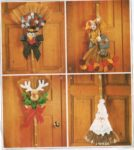 Fun broom door hangings for autumn through Christmas!