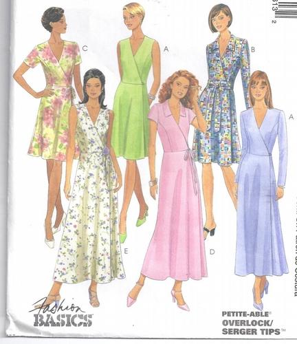 McCalls Pattern 9361 Wrap Dress Size 10- 14 Easy – Sewing Pattern Heaven
