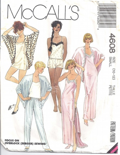 McCalls Pattern 60 Lingerie Gown Teddy Pajamas Robe Misses 60 Inspiration Lingerie Patterns