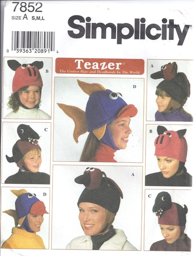 Simplicity Pattern 7852 Hats Polar Fleece Fun – Sewing Pattern Heaven 2fb3088957d