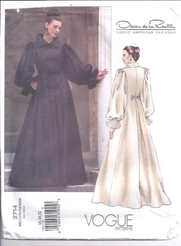 Vogue Pattern 2714 Designer De La Renta Size 182022 Plus Sewing