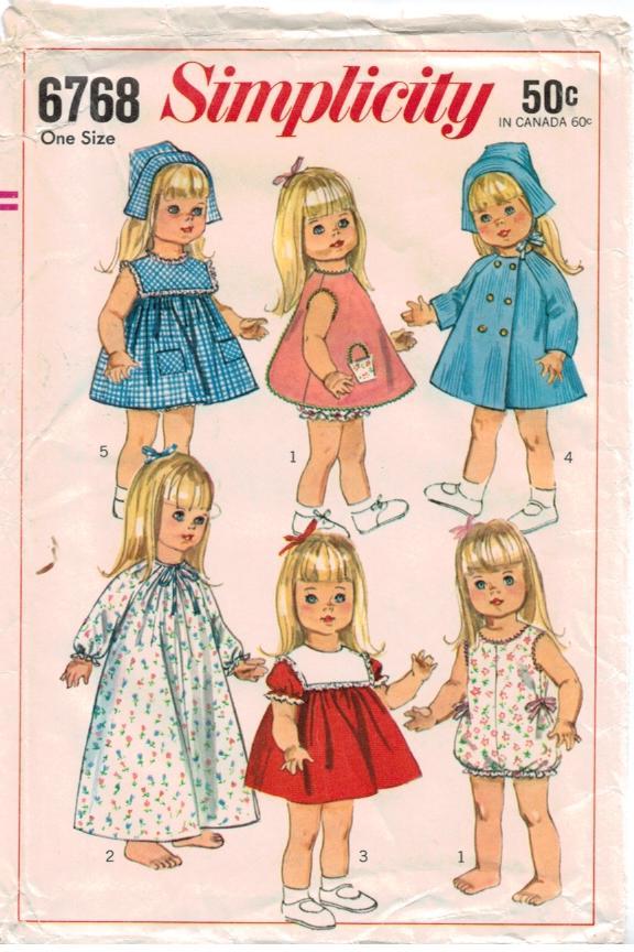 Simplicity Pattern 40 Vintage40 Inch Doll Wardrobe Baby First Step Simple Vintage Simplicity Patterns