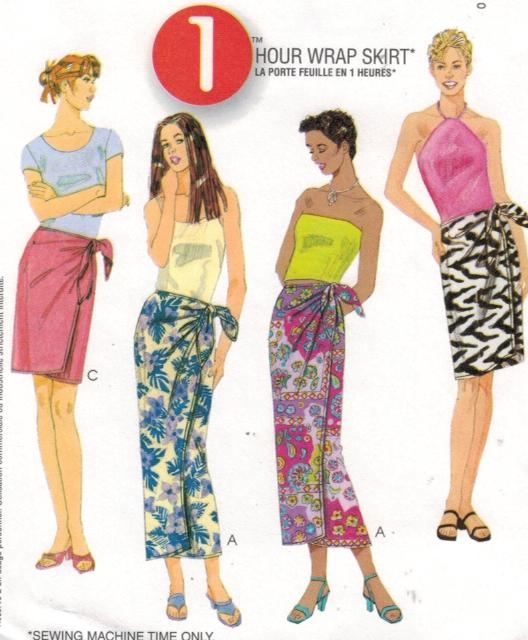 McCalls Pattern 3145 Wrap Skirts Sarong XS-Med – Sewing Pattern Heaven