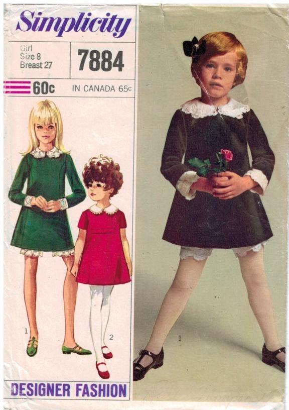 Simplicity Pattern 7884 Girls Dress and Bloomers – Sewing Pattern Heaven