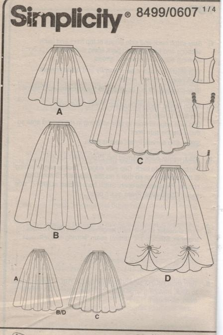Simplicity Pattern 8499 Formal Evening Ballerina skirt and top 6,8 ...