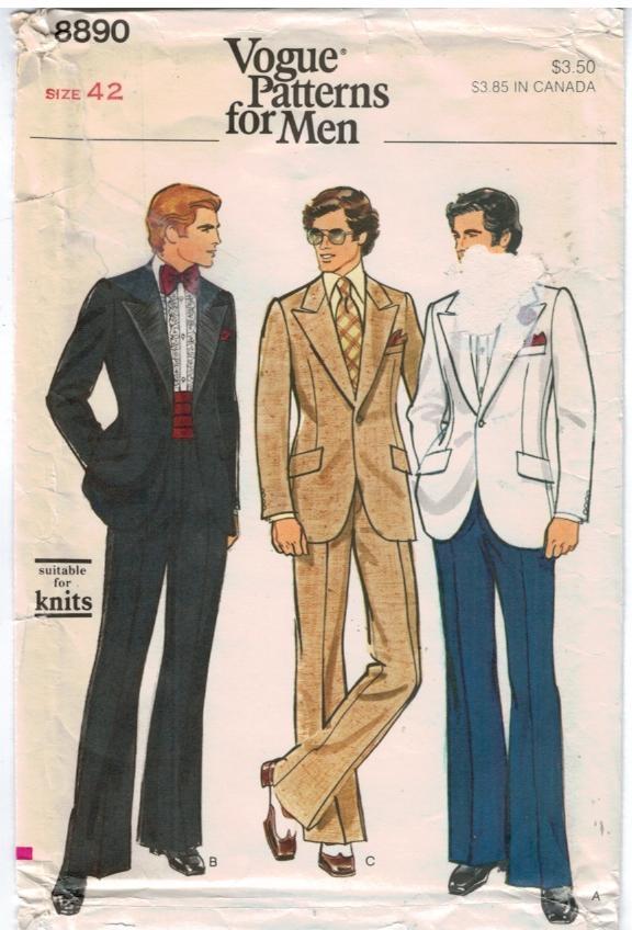 Vogue Pattern 40 Mens Tuxedo Suit Size 40 Sewing Pattern Heaven Inspiration Mens Suit Sewing Patterns