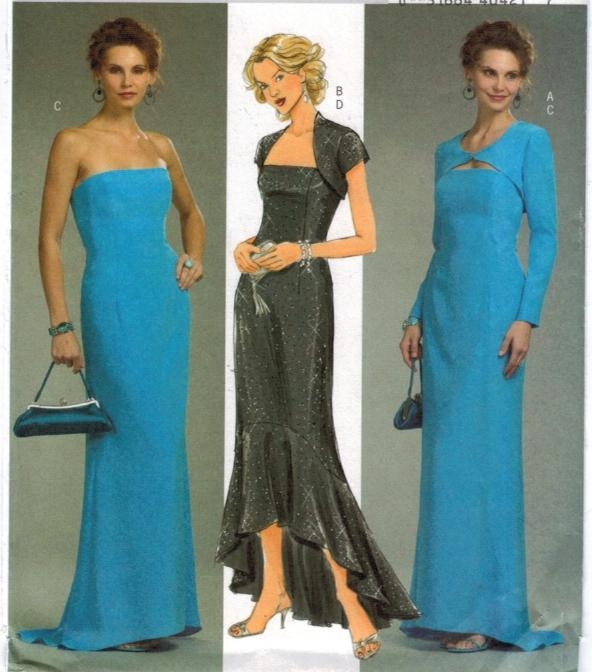 Butterick Pattern 4731 Strapless gown mermaid hem shrug ...