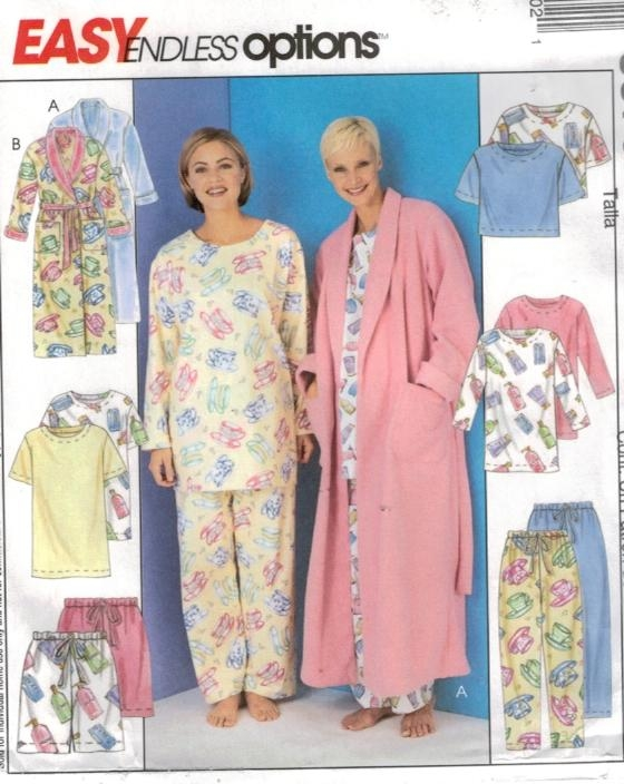McCalls 3370 Size LG – XL Easy Pajama and Robe Pattern – Sewing ...