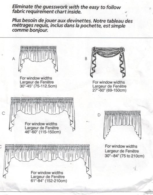 McCalls Pattern 3089 Home Dec in a Sec Curtain valances – Sewing ...