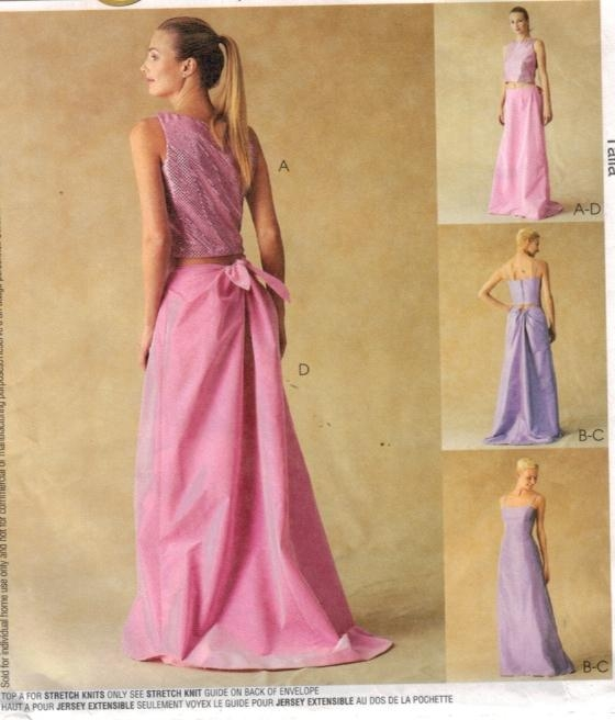 McCalls Pattern 60 Evening Top Skirt Size 60 60 60 Sewing Pattern Extraordinary Mccalls Patterns