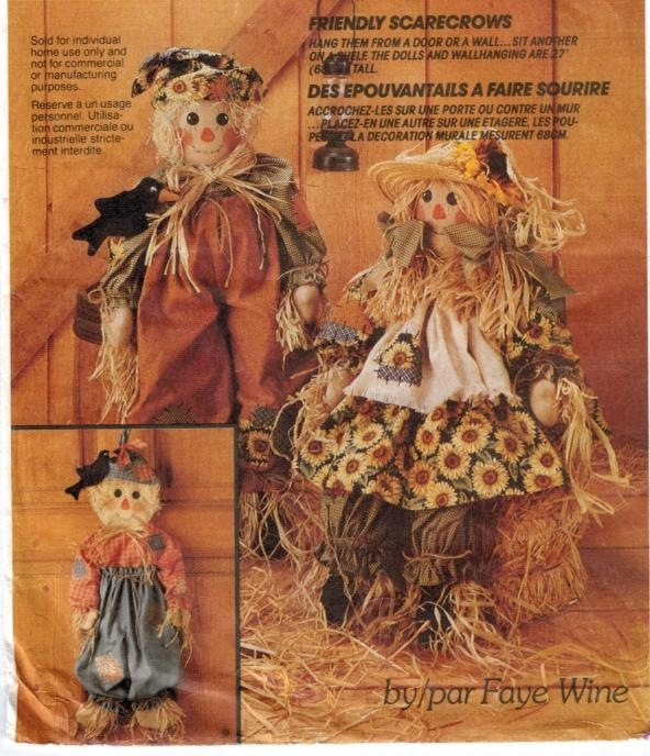 McCalls Pattern 6665 Scarecrow Rag Dolls and Clothing – Sewing ...