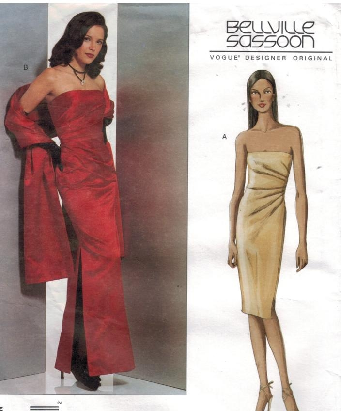Belleville Sassoon Glamour Strapless Evening Gown and stole Vogue ...