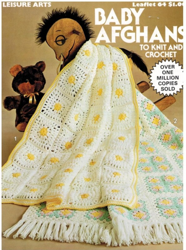 Baby Afghans Knit And Crochet Leisure Arts 64 Sewing Pattern Heaven