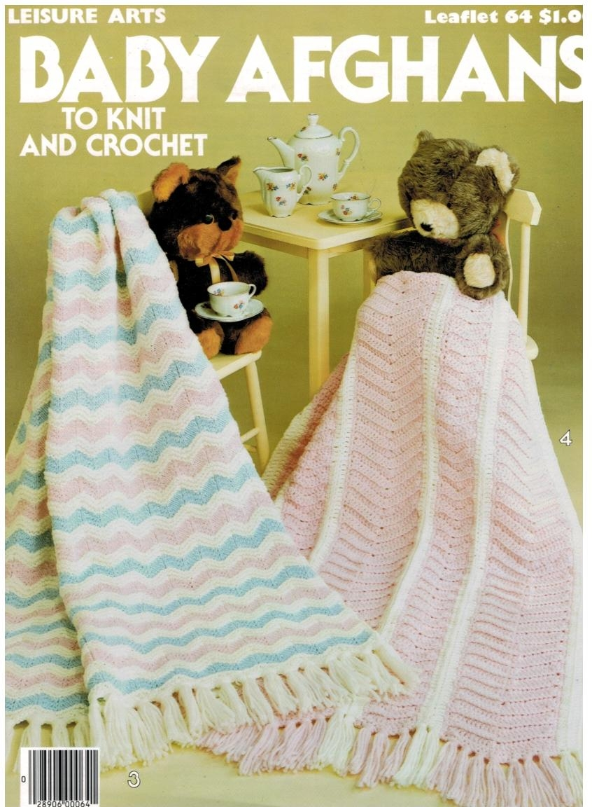 Features two knitting and two crochet patterns for the afghans. Click on  pictures to view the examples of the finished projects.