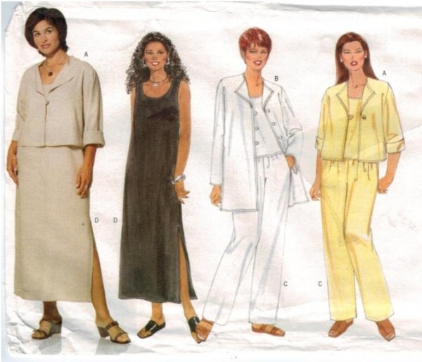 Butterick 6024 Pullover tank top and dress jacket pants Plus size ...
