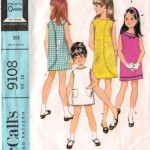 Cute vintage McCalls wrap around sundress for little girls!