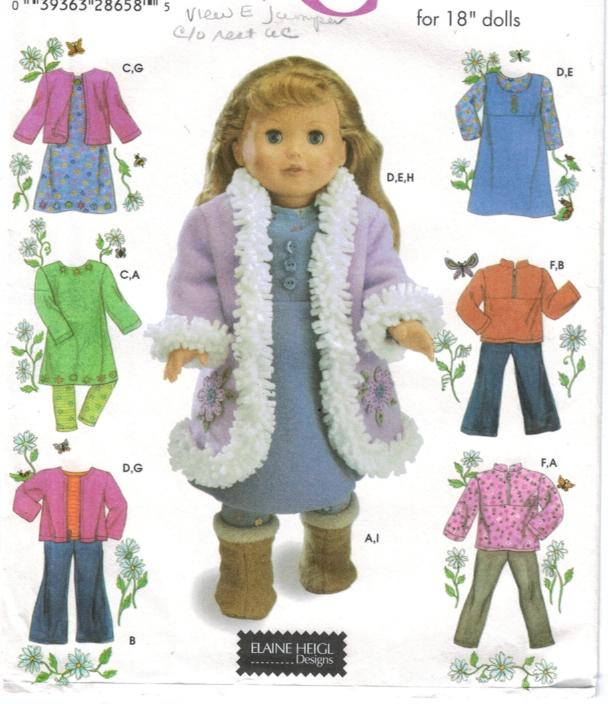 Doll and Doll Clothing Patterns Barbie and more | Sewing Pattern ...