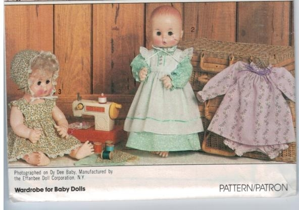 Simplicity Pattern 5615 Vintage Baby Doll Clothing Size 15