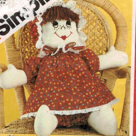Simplicity Pattern 5682 Rag Doll with embroidered faces 17″ high ...