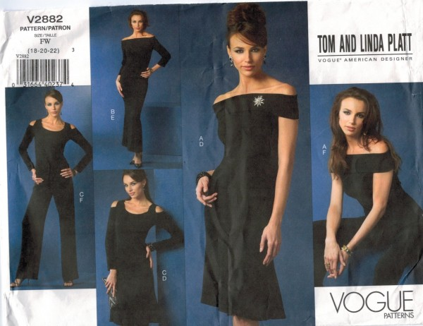 Vogue Pattern 2882 Designer Evening dress skirt top pants off ...
