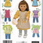 "Cute clothes and aprons for your 18"" doll!"