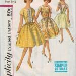 Clssic jewel neck dress with full bouffant skirt!