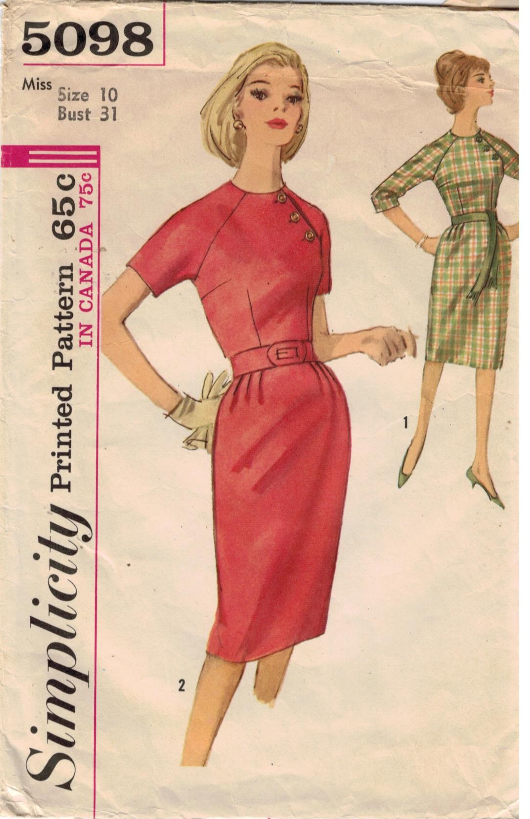 pattern dress Vintage simplicity