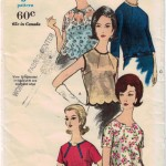 Lovely vintage blouses and tops from Vogue