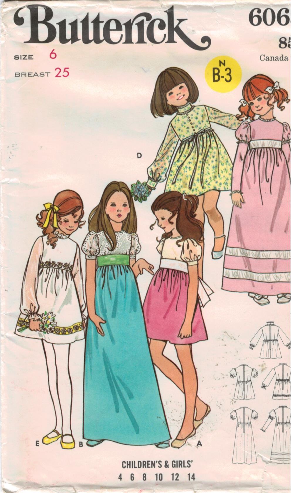 Butterick Pattern for Children