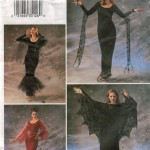 Misses gothic design cape and dress costume