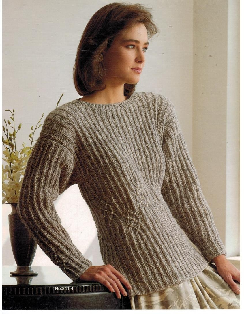 Bucilla Rapture Yarn Knitting Pattern Book Pullovers Vests Sweater Cardigan ...