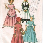 Girl's authentic historical costumes