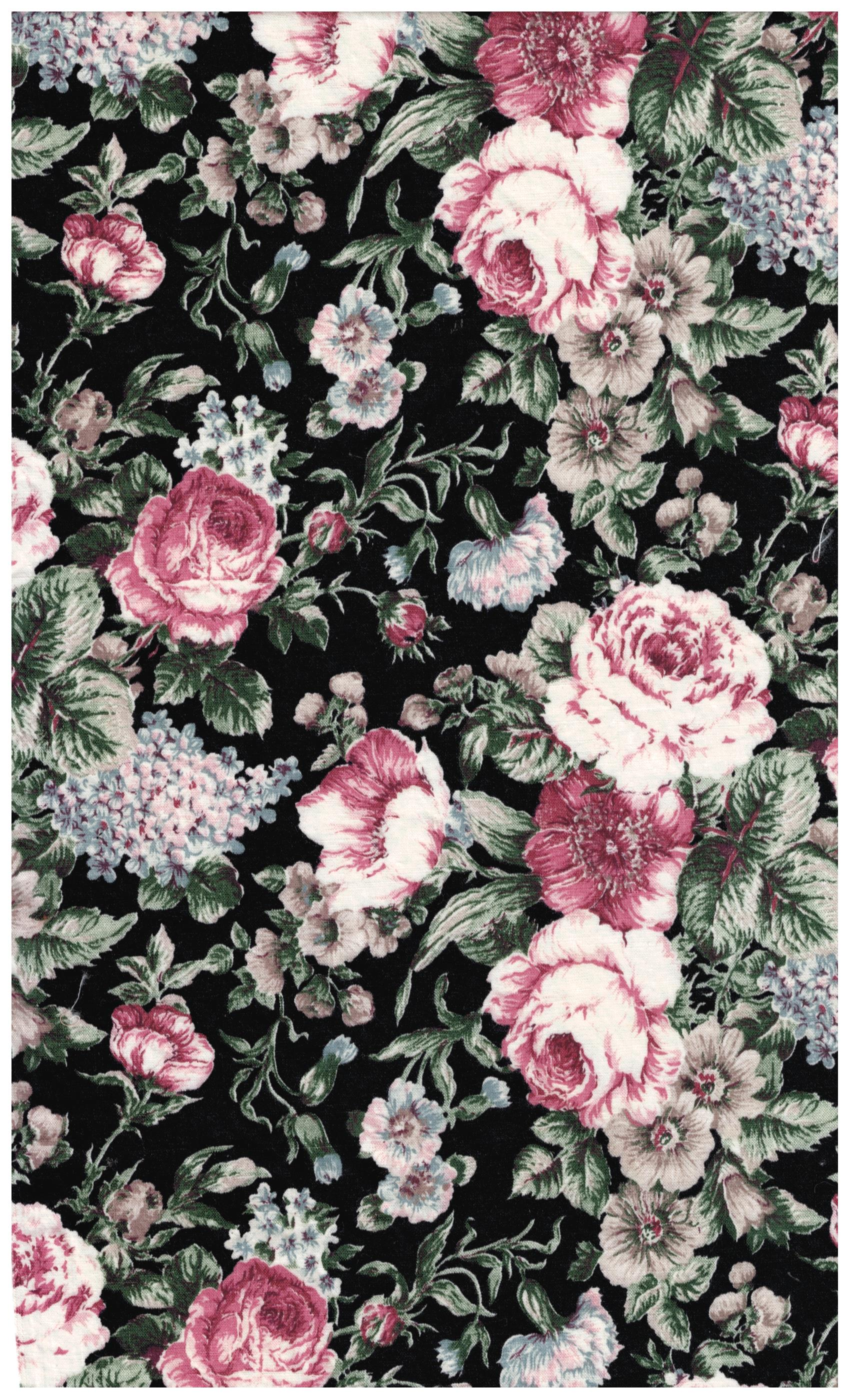 Marcus Brothers Fabric Rose Print Quilting Sewing