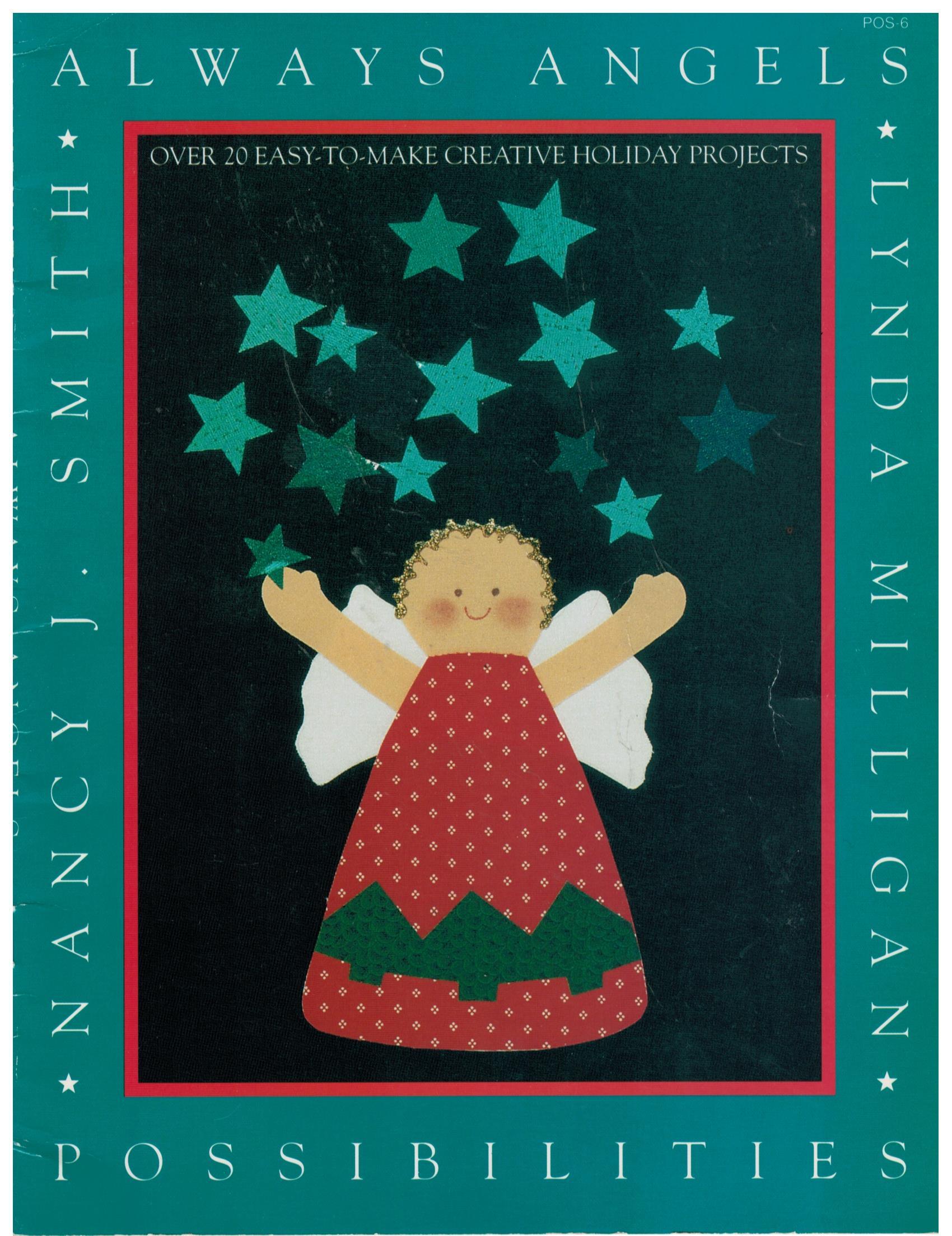 Quilt Pattern Book Always Angels Applique Nancy Smith