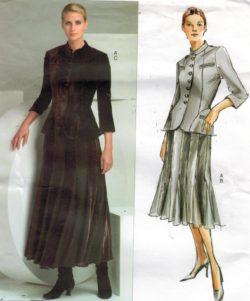 564328a9760 Vogue Pattern 2871 Donna Karan DKNY Jacket and Skirt Sizes 6 8 10
