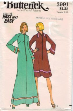 Butterick Pattern 3991 Caftan Robe Housecoat Fast and Easy Size 14 5b57b37eb