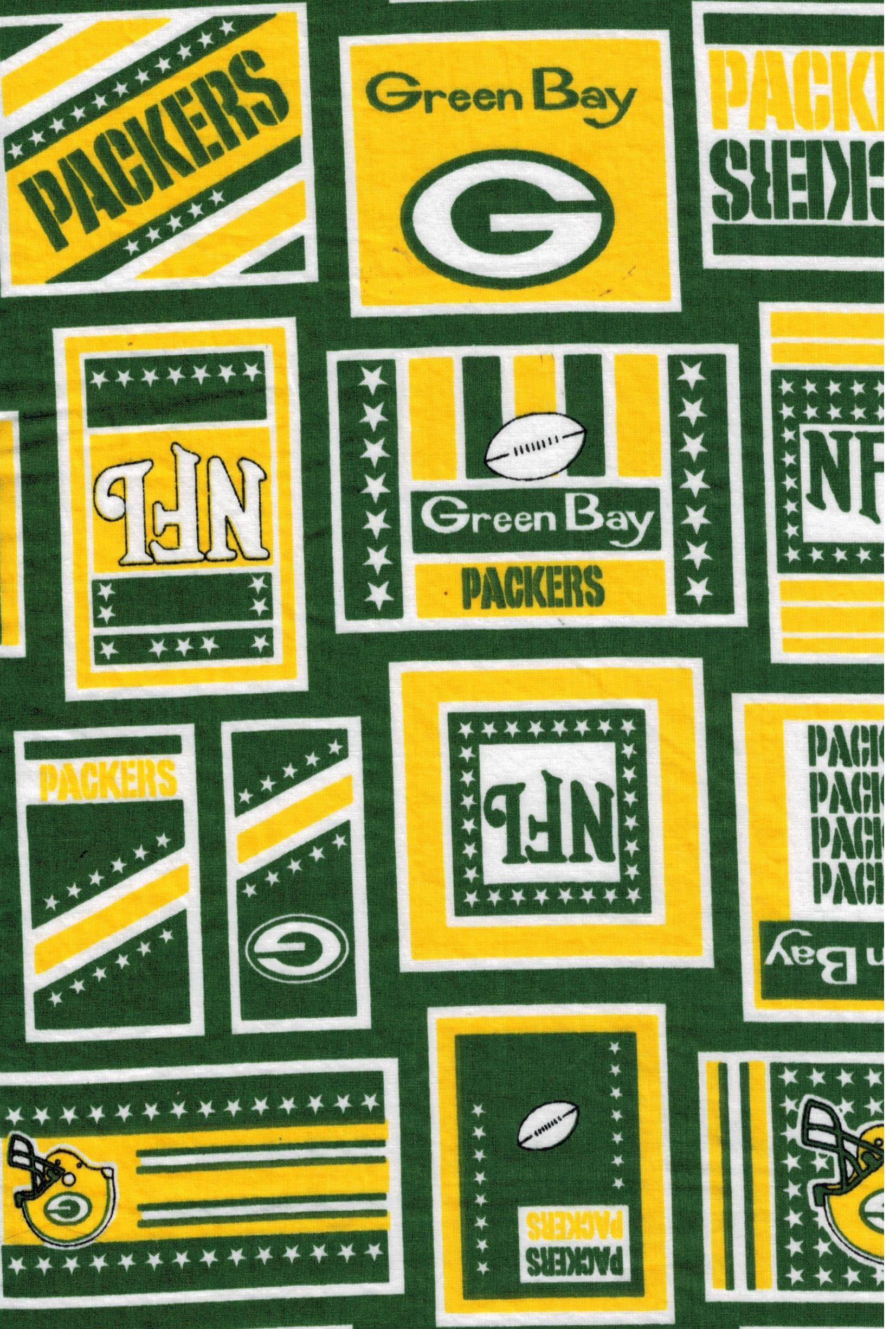 Green Bay Packers Nfl Fabric By Fabric Traditions Nflp 6012 Sewing Pattern Heaven