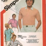 Classic men's polo shirt pattern.